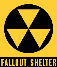Earth fallout shelter sign
